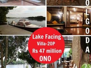Safetynet Pvt Ltd - Lake facing villa in Bolgoda 20P