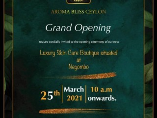 Aroma Bliss Ceylon Luxury Boutique now in Negombo