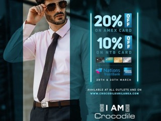 Enjoy 20% OFF for Amex cards & 10% OFF for NTB cards
