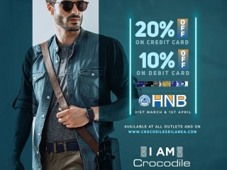 HNB Cardholders! Enjoy 20% OFF on Credit & 10% OFF on Debit cards