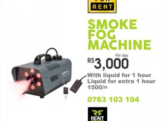 Fog/Smoke Machine for Rent ( With LED lights )
