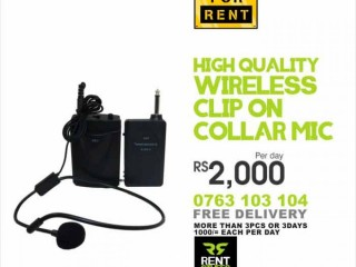 Wireless Clip-On Collar Microphones for Rent