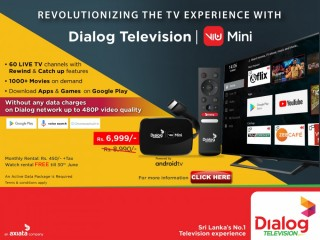 Dialog-Change the way you watch TV with Dialog Television ViU Mini!