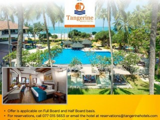 Tangerine Hotel - Pay for one night and get second Night - Exclusive promotion