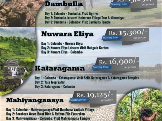 Island Leisure Lanka - Weekend Tour Packages