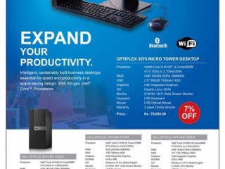 Dell Optiplex - Speed and Productivity in a Space Saving Design