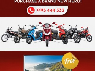 Hero Sri Lanka - Stay Safe with Hero. Get a free 32 inch LED Tv when you purchase a brand new Hero