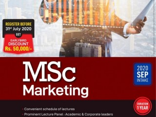 BCAS Campus - MSc Marketing 2020 September Intake is now on'