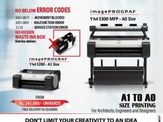 A0 & A1 Plan AutoCAD Blueprint Canon Plotter - Canon