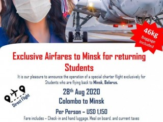 Hayleys Travels - Exclusive Airfares to Minsk for Students