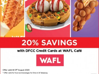 DFCC Bank - Enjoy 20% Savings at WAFL Cafe with DFCC Credit Cards!