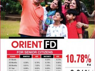 Orient Finance - Orient FD - Invest for a Prospective Retirement