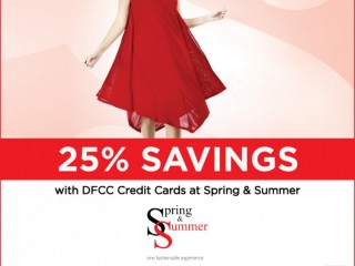 DFCC Credit card offer Enjoy 25% Savings at Spring & Summer with DFCC Credit Cards!